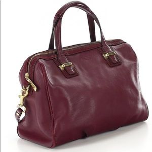 Coach leather Bordeaux bag
